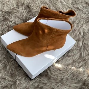 Saddle Suede Booties